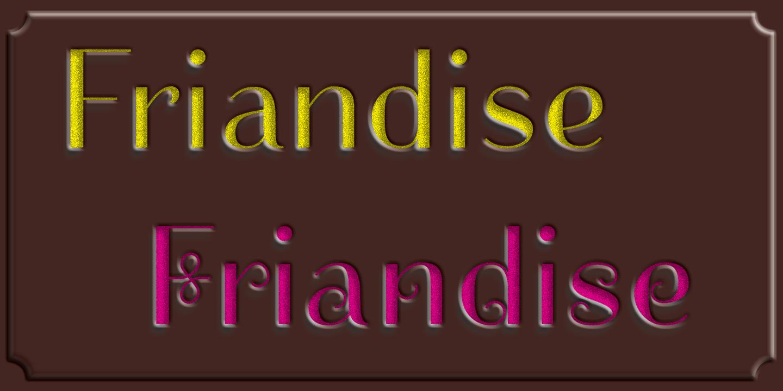 détail Friandise