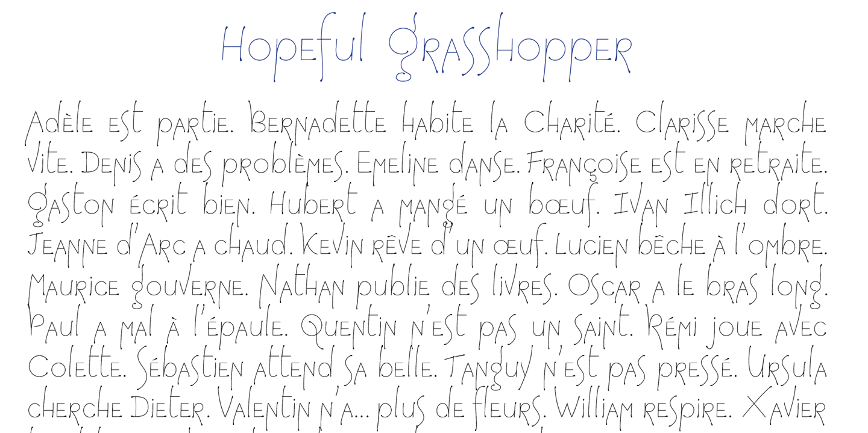 détail Hopeful Grasshoper